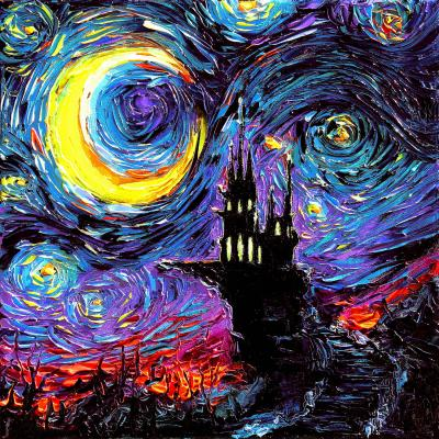 DiaNoche Designs Artist   Aja Ann - Haunting van Gogh