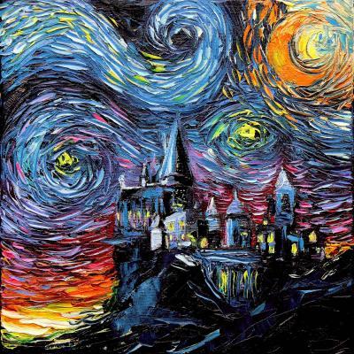 DiaNoche Designs Artist   Aja Ann - Van Gogh Hogwarts