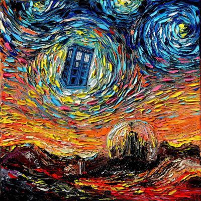 DiaNoche Designs Artist   Aja Ann - Van Gogh Never Saw Gallifrey