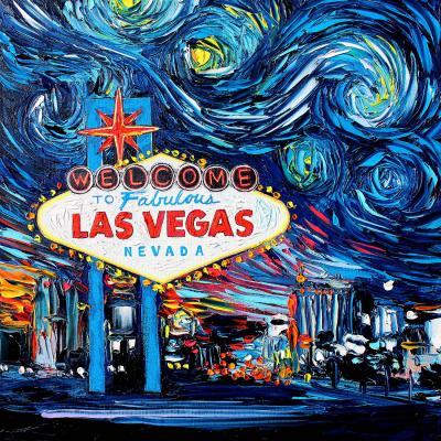 DiaNoche Designs Artist   Aja Ann - Van Gogh Never Saw Las Vegas