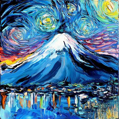 DiaNoche Designs Artist   Aja Ann - Van Gogh Never Saw Mount Fuji