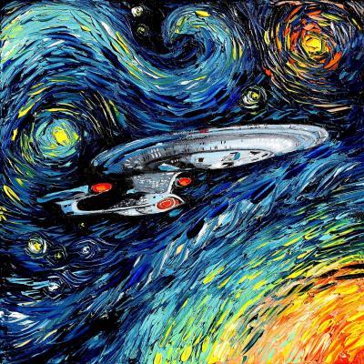 DiaNoche Designs Artist   Aja Ann - van Gogh Star Trek Painting