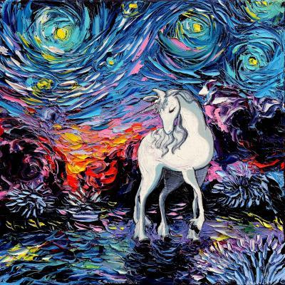 DiaNoche Designs Artist   Aja Ann - Van Gogh Regret Unicorn