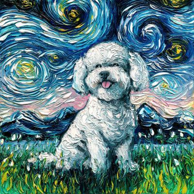 DiaNoche Designs Artist | Aja Ann - Bichon Frise Dog