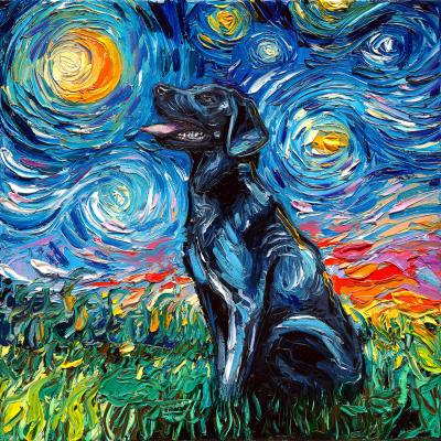 DiaNoche Designs Artist | Aja Ann - Black Labrador Dog