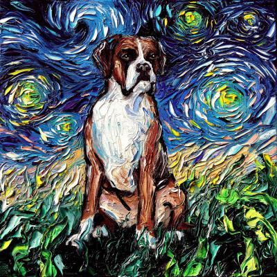 DiaNoche Designs Artist | Aja Ann - Boxer Dog