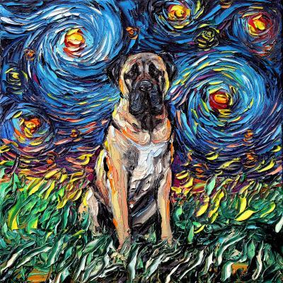DiaNoche Designs Artist | Aja Ann - Bull Mastiff Dog