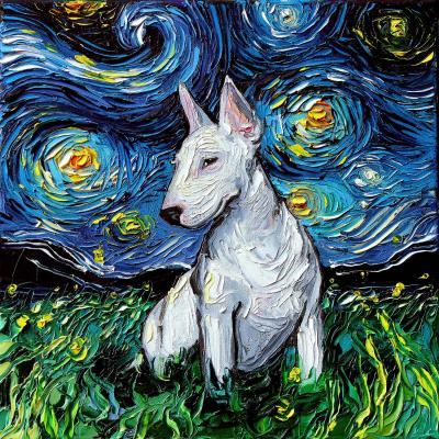 DiaNoche Designs Artist | Aja Ann - Bull Terrier Dog