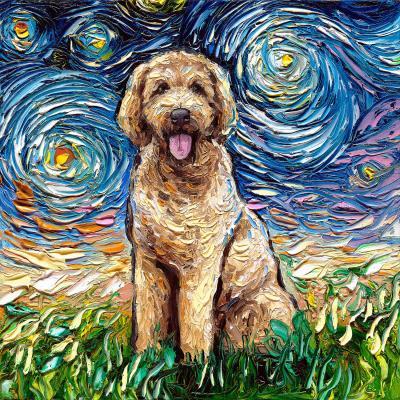 DiaNoche Designs Artist | Aja Ann - Golden Doodle Dog