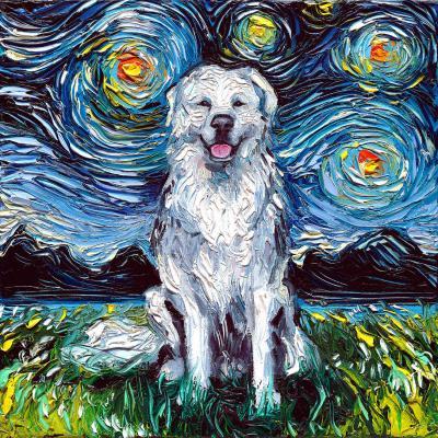 DiaNoche Designs Artist   Aja Ann - Great Pyrenese Dog