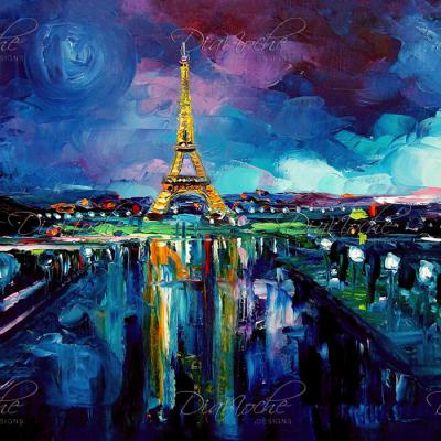 DiaNoche Designs Artist | Aja Ann - Parisian Night Eiffel Tower