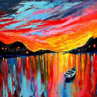 DiaNoche Designs Artist | Aja Ann - Red Sky at Night