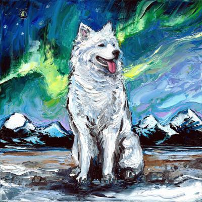 DiaNoche Designs Artist | Aja Ann - Samoyed Dog