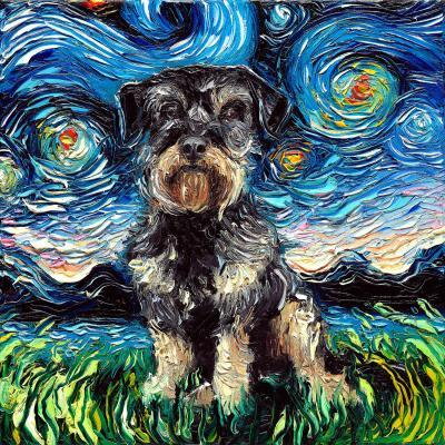 DiaNoche Designs Artist | Aja Ann - Schnoodle Dog