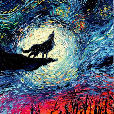 DiaNoche Designs Artist | Aja Ann - Wolf Moon