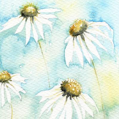 DiaNoche Designs Artist | Amanda Hawkins - Daisies Sea Breeze
