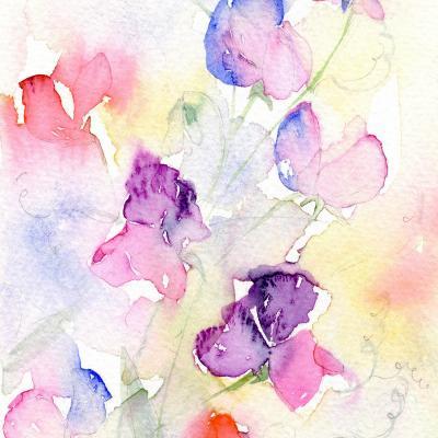 DiaNoche Designs Artist | Amanda Hawkins - Garden Sweet Peas