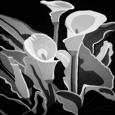 DiaNoche Designs Artist | Angelina Vick - Calla Lilies Black White