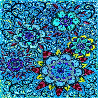 DiaNoche Designs Artist | Ann-Marie Cheung - Blue Mandalas
