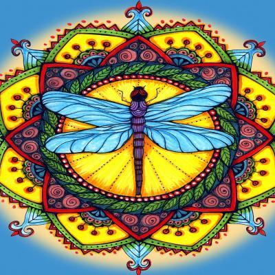 DiaNoche Designs Artist | Ann Marie Cheung - Dragonfly Mandala