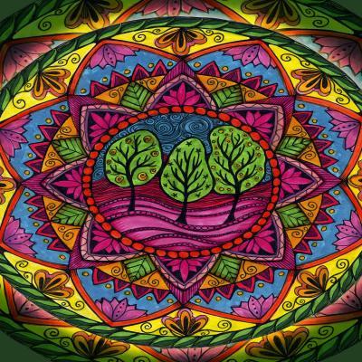 DiaNoche Designs Artist | Ann Marie Cheung - Trees Mandala