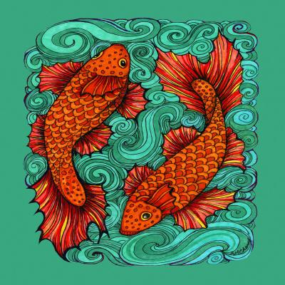 DiaNoche Designs Artist | Ann-Marie Cheung - Two Fish
