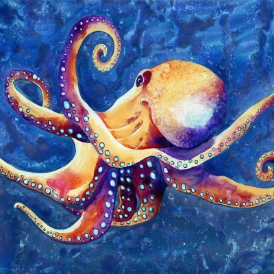 DiaNoche Designs Artist | Brazen Design Studio - Adrift Octopus