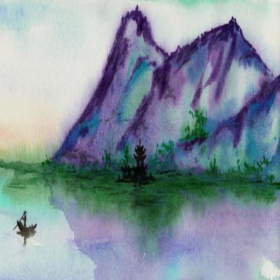 DiaNoche Designs Artist | Brazen Design Studio - Fishing at Dawn