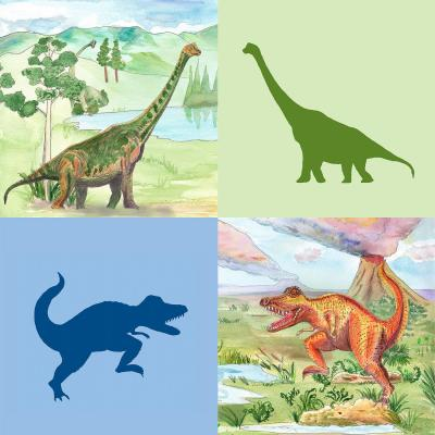 DiaNoche Designs Artist | Catherine Holcombe - Dinosaur Collage