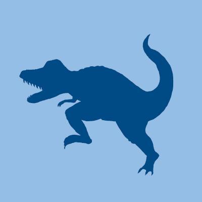 DiaNoche Designs Artist   Catherine Holcombe - Dinosaur I Blue