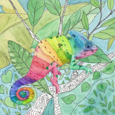 DiaNoche Designs Artist | Catherine Holcombe - Rainbow Chameleon