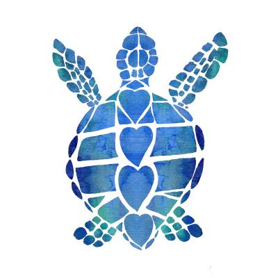 DiaNoche Designs Artist | Catherine Holcombe - Turtle Love Blue