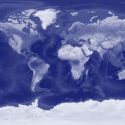 DiaNoche Designs Artist | Catherine Holcombe - World Map Blue