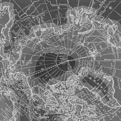 DiaNoche Designs Artist | Catherine Holcombe - Arctic Dark Gray Map