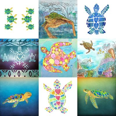 DiaNoche Designs Artist | Catherine Holcombe - Turtle Collage