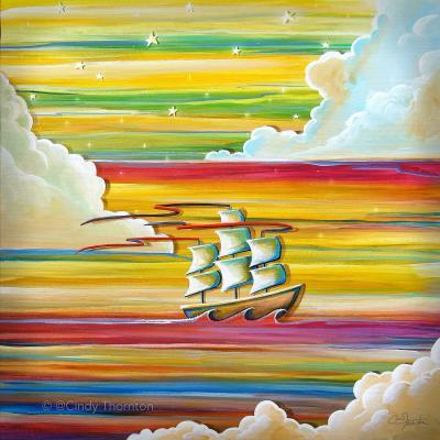 DiaNoche Designs Artist | Cindy Thornton - Neverland Rainbow