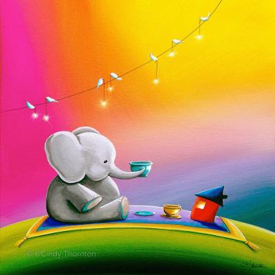 DiaNoche Designs Artist | Cindy Thornton - Rainbow Elephant