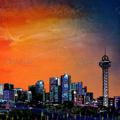 DiaNoche Designs Artist | Corina Bakke - Denver Skyline Sports