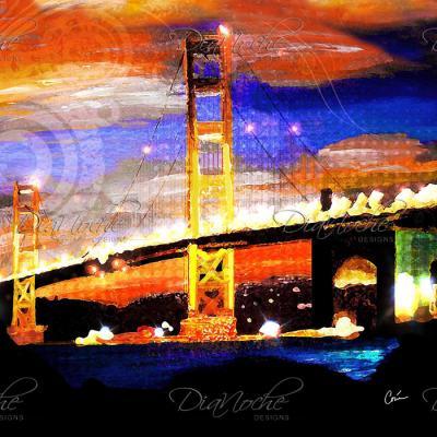 DiaNoche Designs Artist | Corina Bakke - Golden Gates SF