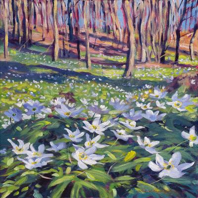 DiaNoche Designs Artist | David Lloyd Glover - Anemones in the Meadow
