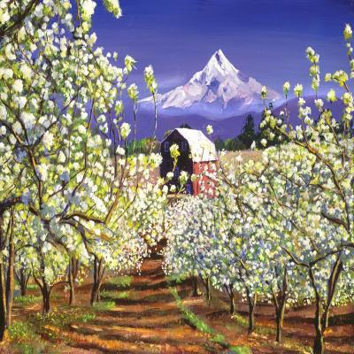 DiaNoche Designs Artist | David Lloyd Glover - Appleblossoms Mount Hood