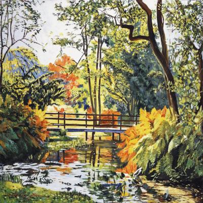 DiaNoche Designs Artist | David Lloyd Glover - Autumn Water Bridge