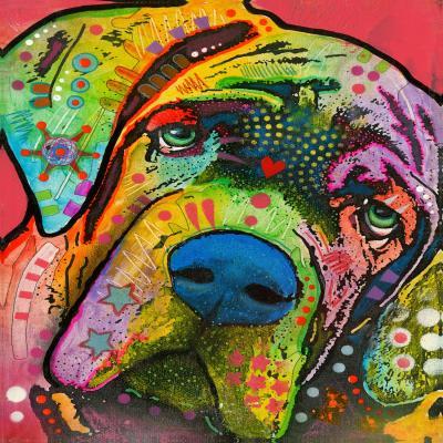 DiaNoche Designs Artist | Dean Russo - Bull Mastiff I Dog