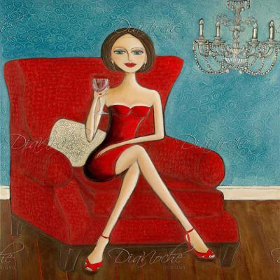 DiaNoche Designs Artist | Denise Daffara - Little Red Dress
