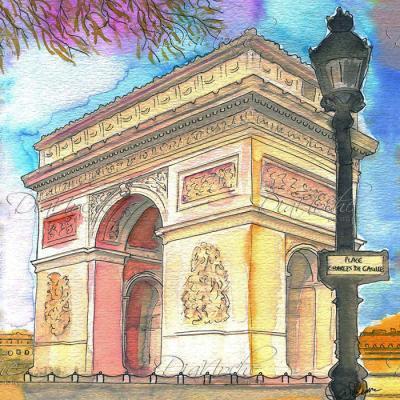 DiaNoche Designs Artist | Diana Evans - Arc de Triomphe