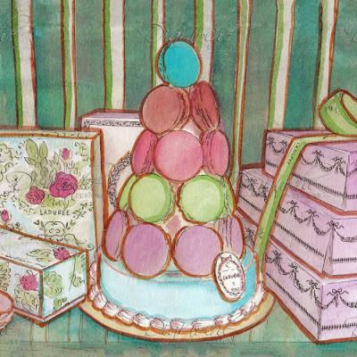 DiaNoche Designs Artist | Diana Evans - Laduree Window Shopping II