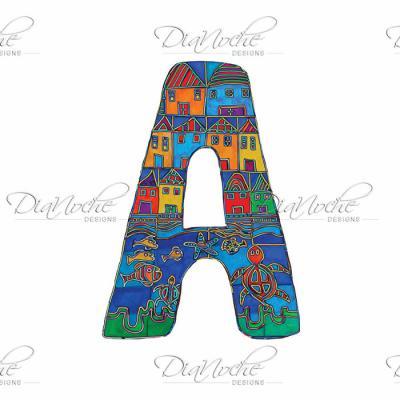 DiaNoche Designs Artist | Dora Ficher - Alphabet Letter A