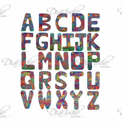 DiaNoche Designs Artist | Dora Ficher - ABC Alphabet