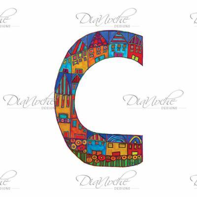 DiaNoche Designs Artist | Dora Ficher - Alphabet Letter C