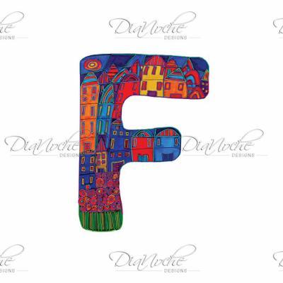 DiaNoche Designs Artist | Dora Ficher - Alphabet Letter F